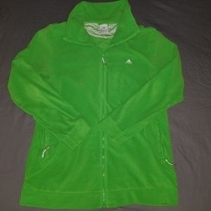 Adidas lime green zip up jacket